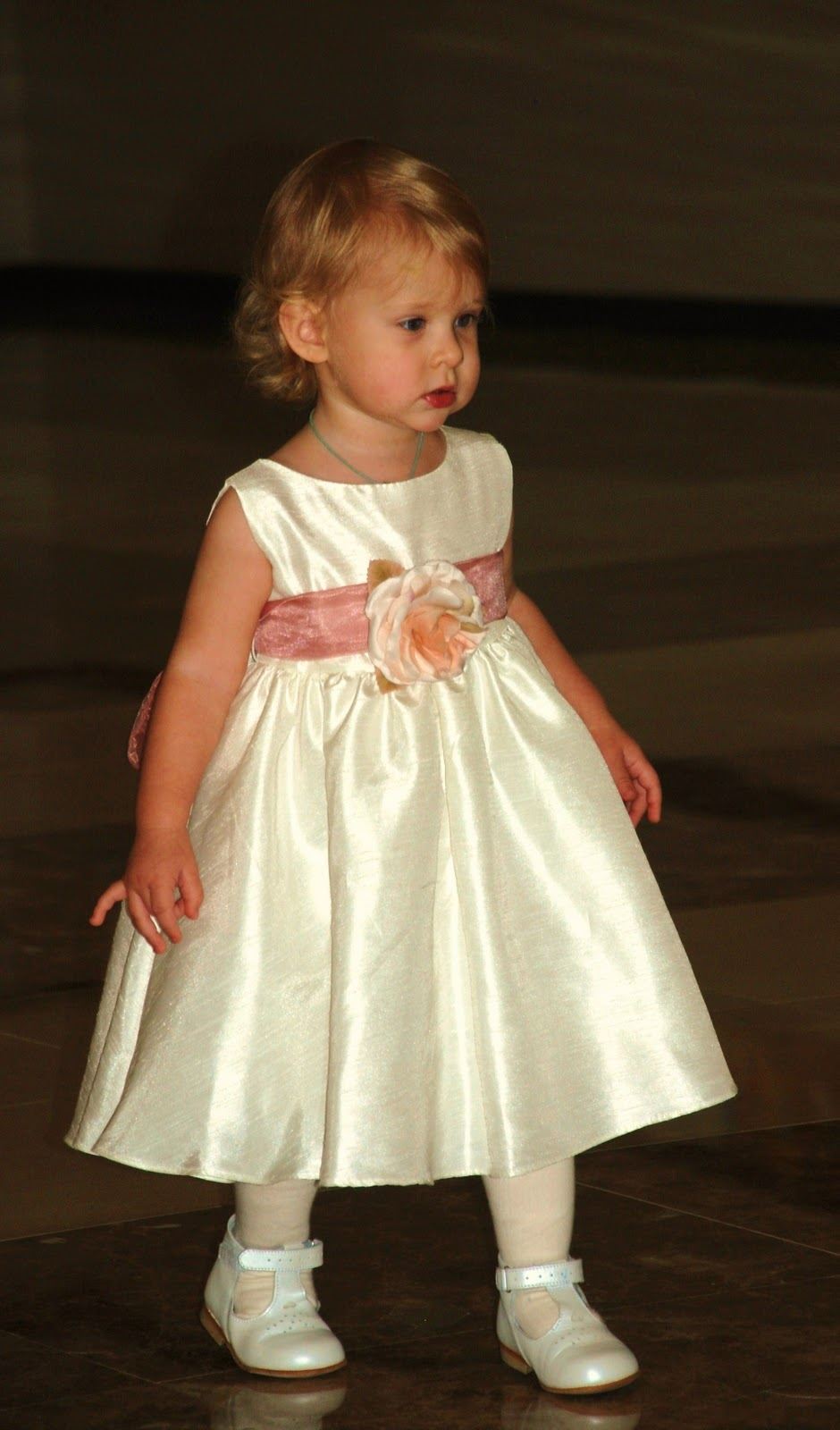 Flower girl dresses for little girls high cut wedding for Little flower girl wedding dresses