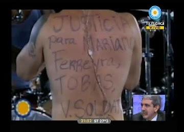 Recital en Plaza de Mayo por los Derechos Humanos