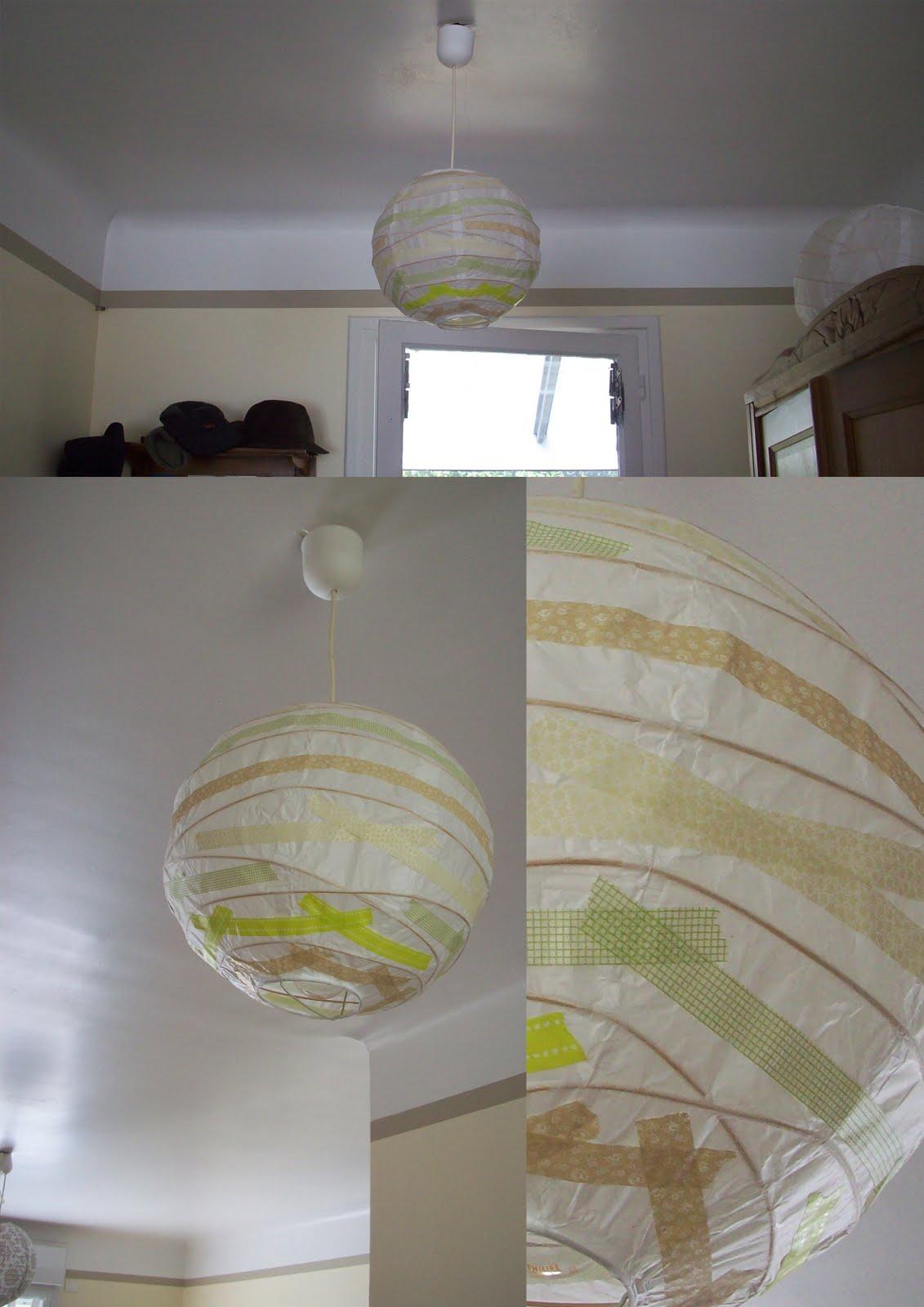 Le petit yaka moderne masking tape mes petites id es for Lampe en papier de riz