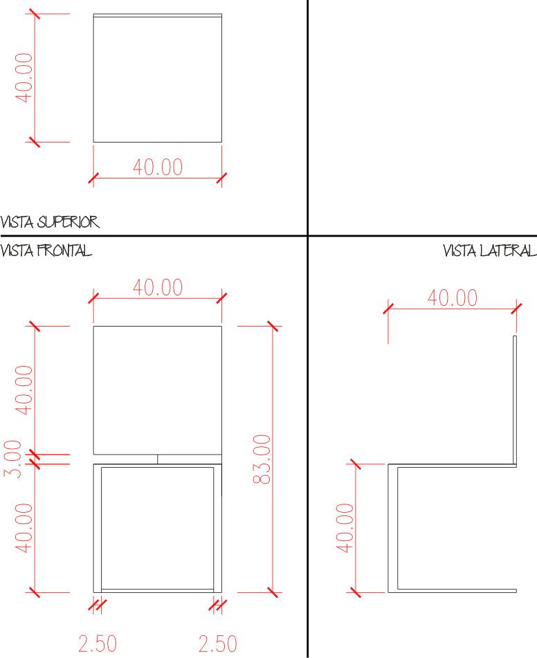 Uni n y corte proyecto silla procedimiento y realizaci n for Sillas para planos