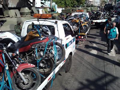 Motos roubadas são apreendidas no rio de janeiro