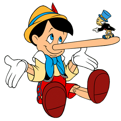Pinocchio   growing nose