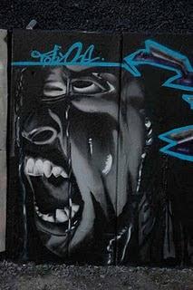 Graffiti Art Black and White Design