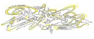 Graffiti Sketches with Yellow Shadow