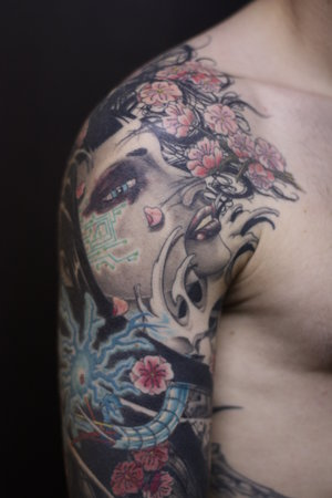 japanese art tattoos. Japanese Sleeve Tattoo Design