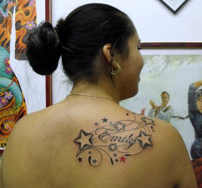 Star Tattoo With Names Until the appropriate placement of tattoo Star