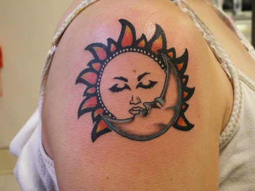 Sun Moon Tattoos Design Ideas