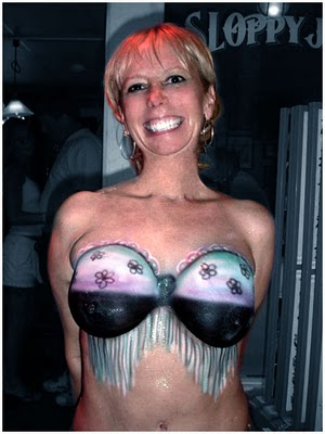 Body Painting Bra, Tattoo Body Painting Bra