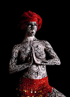 Buddha Women Body Painting