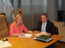 Ilarregui con la ministra Alvarez Rodriguez