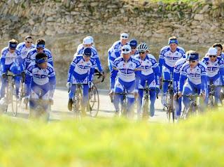 Quick Step Equipo profesional de ciclismo Quick Step a partir del 14.de diciembre 2010 en Calpe