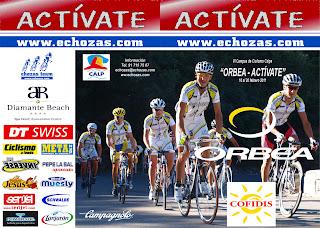 Camupus+Calpe VI Campus de Ciclismo Orbea Actívate el 16.  20.de Febrero en Calpe con la presencia de Alejandro Valverde y Fernando Escartín