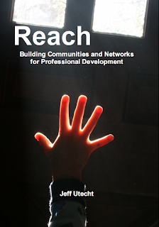 Book cover: a hand reaching upwards to the light