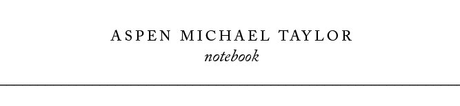 Aspen Michael Taylor - Notebook