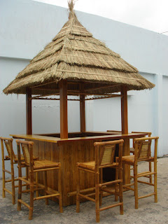 Outdoor Tiki Bar: Tiki Bar   Bamboo Tiki Bar   Tiki Bar Decor   Bar  Accessories