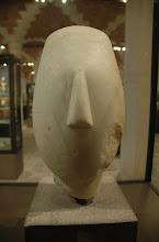 Cycladic Head figurine, Spedos, Louvre