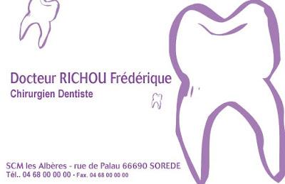 Cartes De Visite Pour 2 Chirurgiens Dentistes