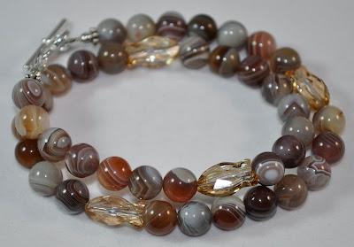 ed Leopard Skin Jasper - Faithful Fish Bracelet