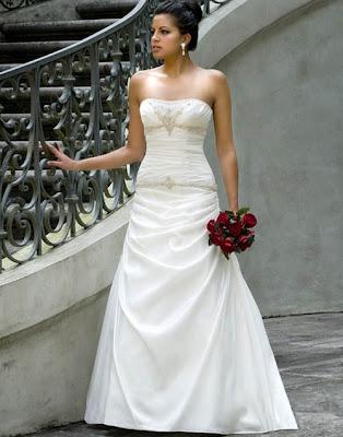 straples wedding dresses