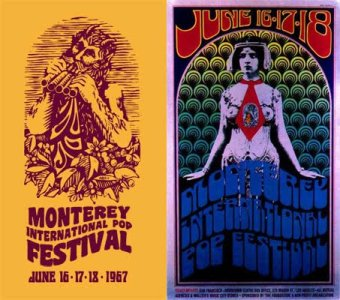 The Monterey International Pop Music Festival, 16,17 &18  June1967