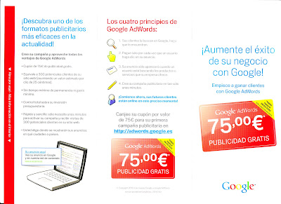 75 Euros Invitiation from Google - Barcelona SEO Blog
