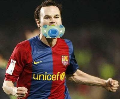 Andres Iniesta with a dummy - BarcelonaSights Blog