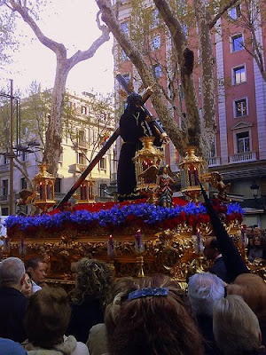 Easter Procession on Las Ramblas - Barcelona Sights