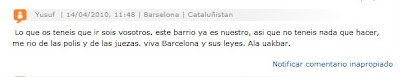 Comment on today's article - Barcelona Sights Blog