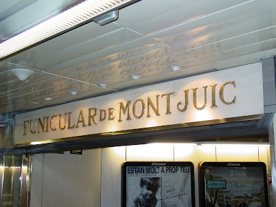 Barcelona Sights - Montjuic Funicular Entrance