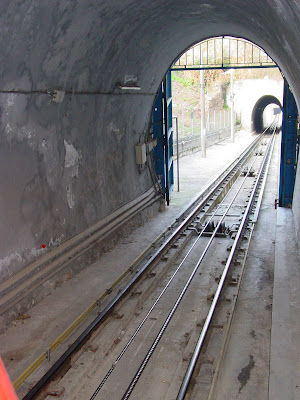 Barcelona sights - Tunnel at Montjüic Funicular