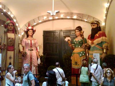 Gegants on display during La Merce - Barcelona Sights Blog