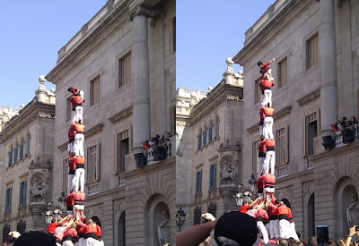 Top of Human Tower - Barcelona Sights Blog