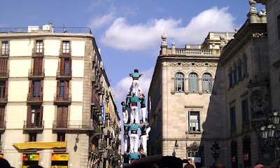Human Towers at Plaça Sant Jaume - Barcelona Sights Blog