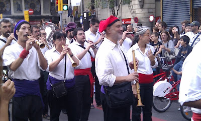 Pipers on Las Ramblas - Barcelona Sights