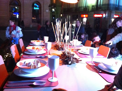 Model Table at Christmas - Barcelona Sights Blog