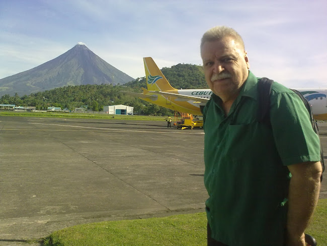 Legazpi city airport with Mt Mayon