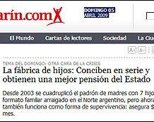 Trecho do jornal El Clarin
