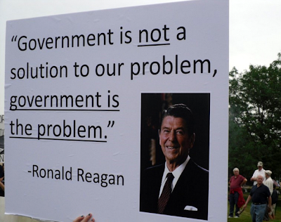 government is not the answer to the problem