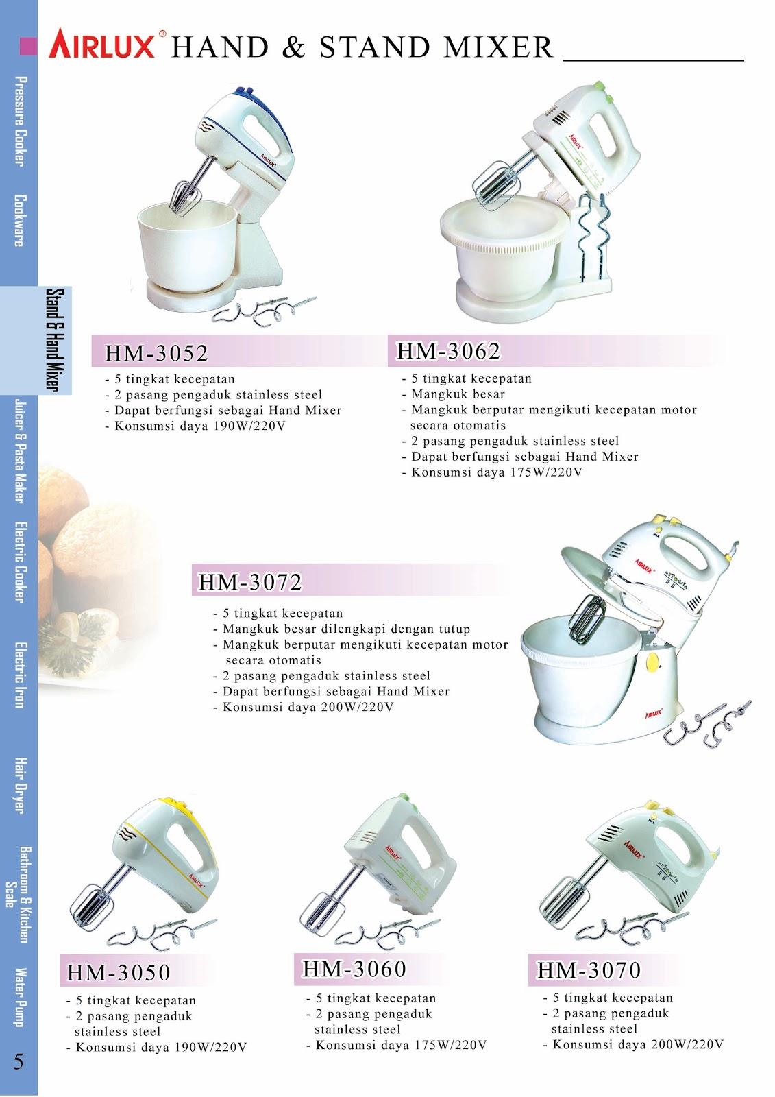 Airlux Hand Mixer Hm 30604 Daftar Harga Terkini Terlengkap 3060