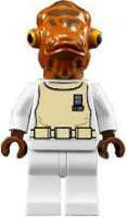 star wars lego 7754 rare minifig Admiral Ackbar