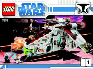 Star Wars 7676 Republic Attack Gunship Building Instruction