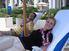Relaxing on our honeymoon