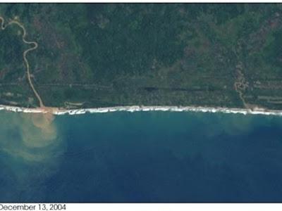 Foto Keajaiban Tsunami Aceh Yang Terekam Oleh NASA