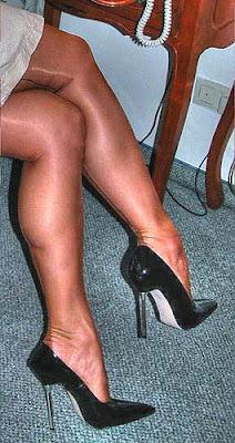 Black high heels for Office Girl