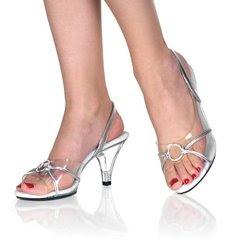 3 inches Stiletto Heel Sling Back Mini-Platform Sandal W/Ring