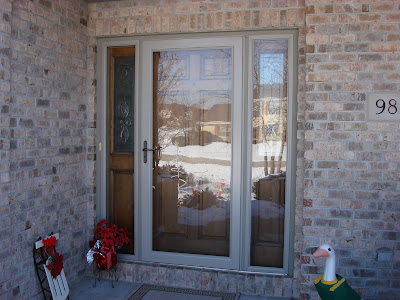 Pictured Above Is A Larson Storm Door And Storm Sidelight Panels We  Recently Installed On A Home In Oak Creek. Larson Storm Doors