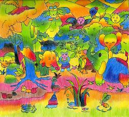 ภาพวาดระบายด้วยสีไม้