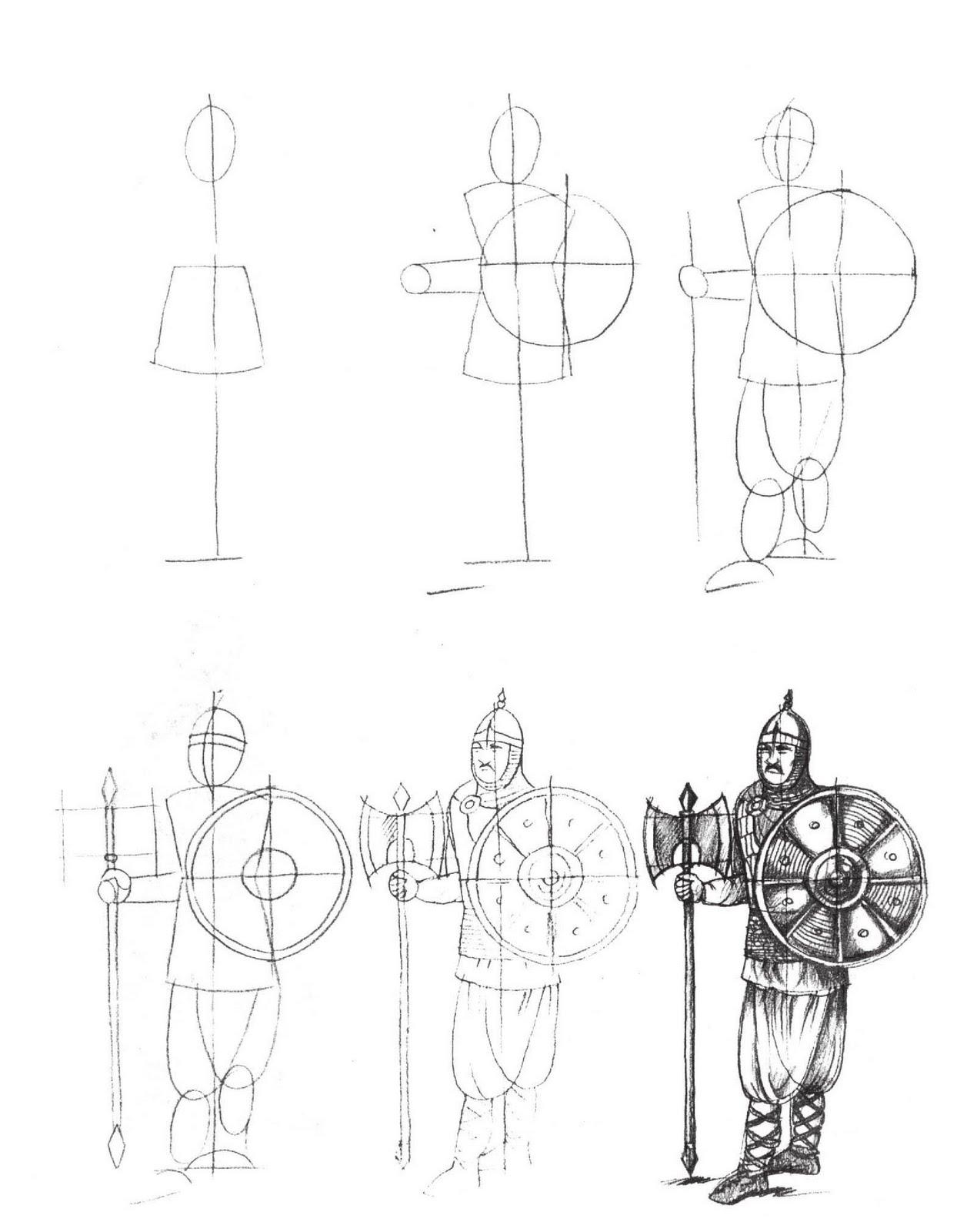 Рисунки карандашом рыцарей 21 фотография