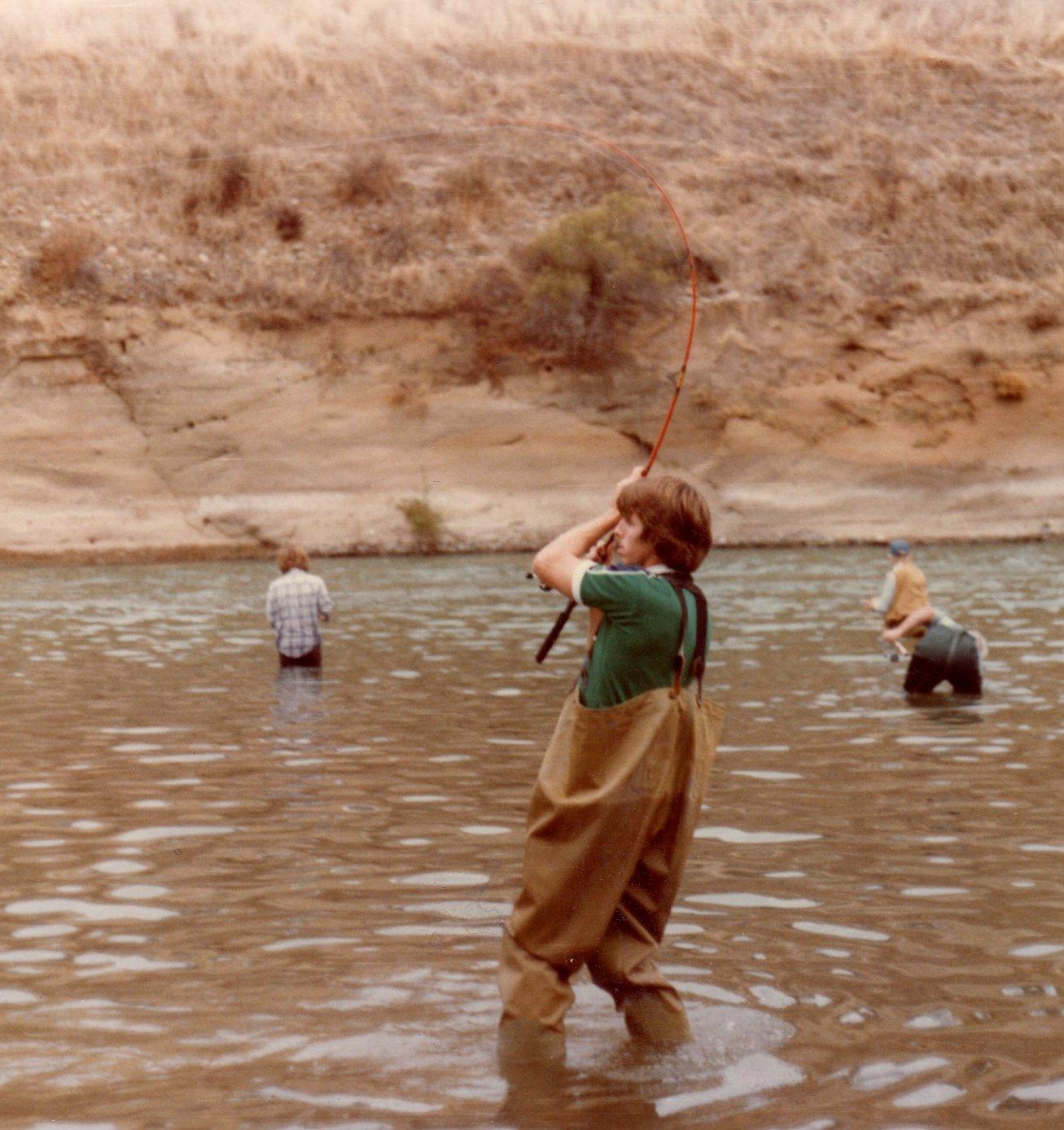 One time ago salmon fishing for Nimbus dam fishing