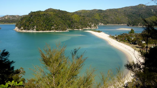 El agua en Abel Tasman National Park es cristalina